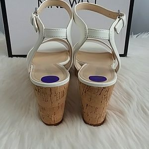Nine West Shoes - NEW Nine West Valerie3 White Wedge Sandals